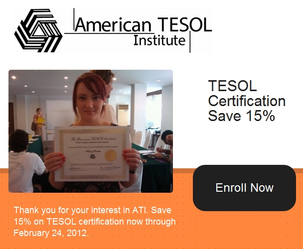 American TESOL Certification