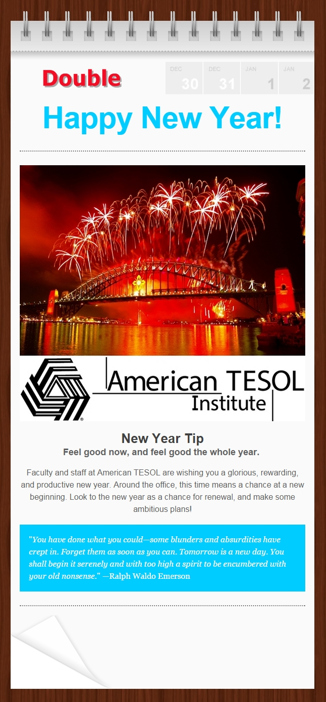 Happy New Year TESOL 2015