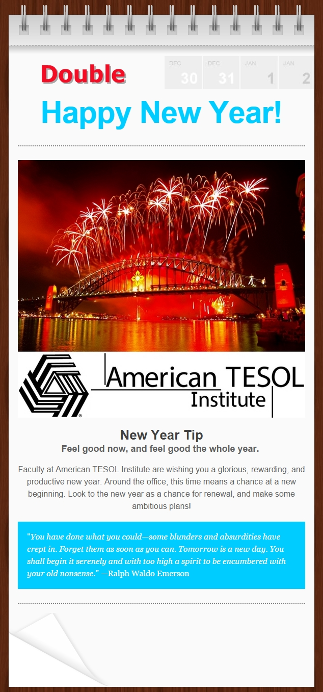 #HappyNewYear American TESOL Institute