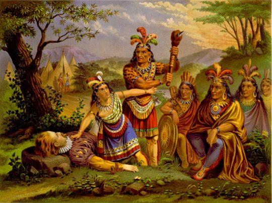 Pocahontas saves J. Smith